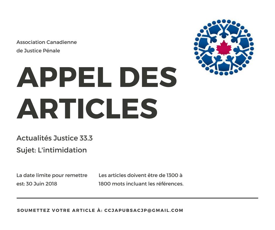 Appel des Articles: Actualités Justice 33.3